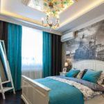 Спальня в двухкомнатной квартире 61,18 м²