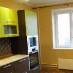 Кухня в однокомнатной квартире 49,34 м²