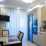 Кухня в однокомнатной квартире 48,69 м²