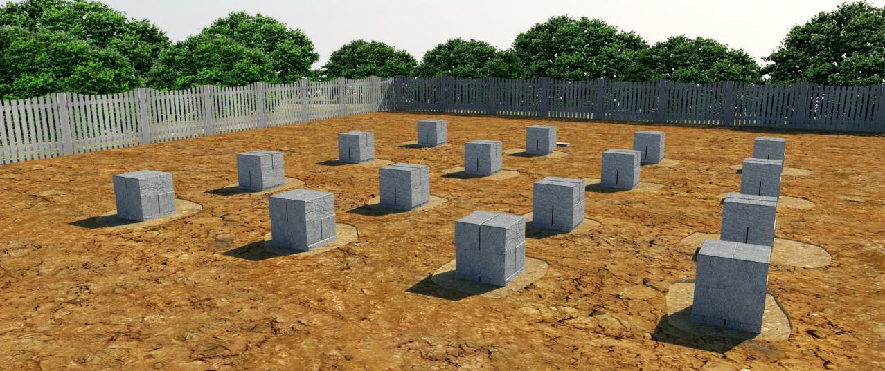 фундамент из блоков 20х20х40